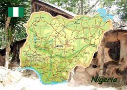 Nigeria Country Map New Postcard Landkarte AK - Nigeria
