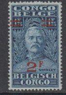 Belgisch Congo 1931 Stanley Ovptd 2F Op 1,75 F ** Mnh (42933G) - Belgian Congo