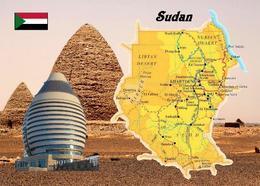 Sudan Country Map New Postcard Landkarte AK - Soedan