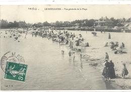 LE POULIGUEN . VUE GENERALE DE LA PLAGE . CARTE TRES ANIMEE AFFR SUR RECTO LE 20 AOUT 1908 - Le Pouliguen