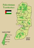 Palestine State Map New Postcard Palästina Landkarte AK - Palästina
