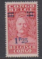 Belgisch Congo 1931 Stanley Ovptd 1.25F Op 1F ** Mnh (42933L) - 1923-44: Ongebruikt