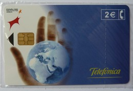 SPAIN - Chip - 2 Euro - Espana 2002 - Earth - Socio Technologico - 05/02 - 4000ex - Mint Blister - Spain