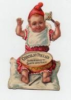 CHROMO Découpis Chocolat Poulain En 2 Parties Collées Enfant Bébé Jouet Tambour Hochet - Poulain