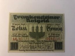 Allemagne Notgeld Frankenstein 10 Pfennig - [ 3] 1918-1933 : République De Weimar