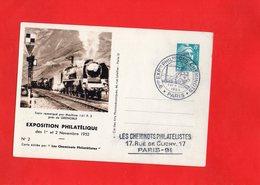 F0106 - Les Cheminots Philatélistes - Train Remorqué Par Machine 141 P.3 Prés De Grenoble - Trenes