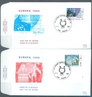 BELGIUM - 11.5.1985 - FDC - EUROPA  -  RODAN 757-758 HAALTERT - COB 2175-2176 -  Lot 19592 - FDC