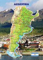Argentina Country Map New Postcard Argentinien Landkarte AK - Argentinië