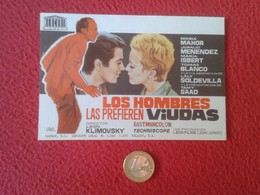 SPAIN PROGRAMA DE CINE FOLLETO MANO CINEMA PROGRAM PROGRAMME FILM LOS HOMBRES LAS PREFIEREN VIUDAS JUANJO MENÉNDEZ VER F - Cinema Advertisement