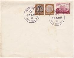 B&M: Brief Mit Propaganda Sonderstempel Aussig 1938 - Besetzungen 1938-45
