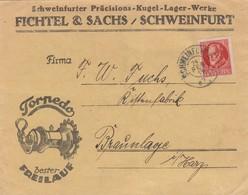 1919 Fichtel Und Sachs, Kugellager, Torpedo Freilauf, Schweinfurt Nach Braunlage - Bavaria