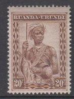 Ruanda-Urundi 1931 Inheemse Mensentypen 20fr ** Mnh (42933K) - 1924-44: Mint/hinged