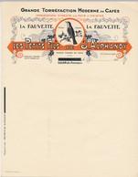 SALON De PROVENCE / MARSEILLE (B Du R) - 2 En-tête + 2 Traites J.ALPHANDY - La Fauvette - Cafés - Food