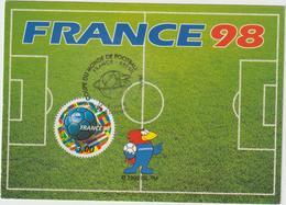 Carte-Maximum FRANCE N° Yvert 3139 (COUPE DU MONDE ) Obl Sp Ill St Denis France-Brésil - 1990-99