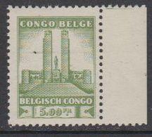 Belgisch Congo 1941 Monument Koning Albert I Te Leopoldstad 5 Fr  1w (see Scan)  ** Mnh (42933G) - Belgisch-Kongo