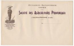 SALON De PROVENCE (B Du R) - En-tête Huilerie Savonnerie Cafés - Société Des Agriculteurs Provençaux (le Moissonneur) - Food