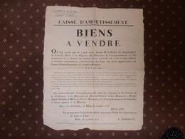 """ACTE De VENTE  De  Terrains Viticoles  Sur Les Communes De """"CHATEAUVIEUX - COUFFI - TROO""""  -  Daté  9 Avril 1808 - 41 - - France"""