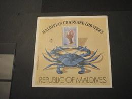 MALDIVES - BF 1978 CROSTACEO - NUOVO(++) - Maldive