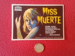 SPAIN PROGRAMA DE CINE FOLLETO MANO OLD CINEMA PROGRAM PROGRAMME FILM PELÍCULA MISS MUERTE MABEL KARR DEAD JESÚS FRANCO - Publicidad