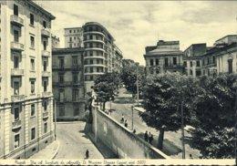 1956- Cartolina Foto Napoli Via Scarlatti Da Annella Di Massimo Vomero (quartiere Postale 520) Affrancata L.60 Europa Co - Napoli