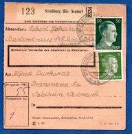 Colis Postal / De Strasbourg - Neudorf  / Pour Walheim - Alsace-Lorraine