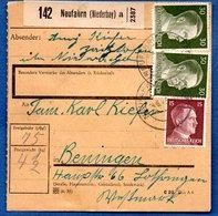 Colis Postal / De Neufahrn / Pour Bening ( Beningen) - Alsace-Lorraine