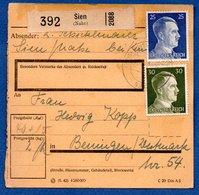 Colis Postal / De Sien / Pour Bening ( Beningen) - Alsace-Lorraine
