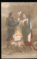 Le Traite De Francfort Sera Dechire Et L'Alsace Sera Liberee ( 5 Cartes ) - Patriottisch
