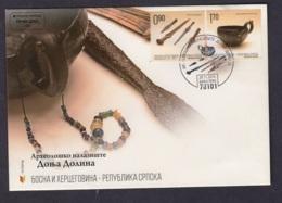 19.- BOSNIA I HERZEGOVINA BANJA LUKA 2014 FDC ARCHAEOLOGY - Arqueología