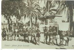 """TRIPOLI (LIBIA)ALLIEVI ARABI ORFANELLI,B/N-ANIMATA-TIMBRO """"COMANDO 2° BATTAGLIONE-89° FANTERIA""""1916-CENSURA - PER NAPOLI - Guerra 1914-18"""