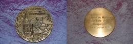 Médaille Montaigut-en-Combraille Société De Musique Salle René Cholin Inauguration 6/07/1991, Bronze, Signée JP - France