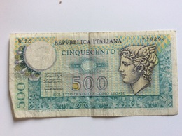 ITALIA 500 LIRE 1976 SERIE SOSTITUTIVA W16 CIRCOLATA - [ 2] 1946-… : Républic