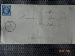 NAVILLY : Lettre De 1857 : PC 2231 + Càd Type 22  + Boite Rurale C  ( Non Identifiée ) - Storia Postale