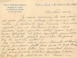 17 - SAINT JEAN D'ANGELY - CDV René Bourlange - Herboriste De L'université De Toulouse En 1925 - Cartes De Visite
