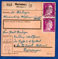 Colis Postal / De Marienburg - Alsace-Lorraine
