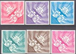 "1964-(MNH=**) Giordania S.6v.non Dentellati "" Olimpiadi Di Tokyo"" - Estate 1964: Tokio"