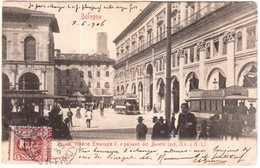 CPA ITALIE.BOLOGNA.PIAZZA VITTORIO EMMANUELE II.E PALAZZO DEL BIANCHI - Italie