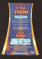 Grattage FDJ - FRANCAISE DES JEUX - AN 2000 - 55901 - Code Barres à Droite - Trait Bleu - Billets De Loterie