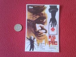 SPAIN ANTIGUO PROGRAMA DE CINE FOLLETO MANO OLD CINEMA PROGRAM PROGRAMME FILM PELÍCULA AS DE PIC GEORGE ARDISSON VER FOT - Cinema Advertisement