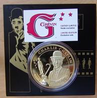 Médaille Charlie Chaplin Avec Coffret Musée Grevin - Professionnels / De Société