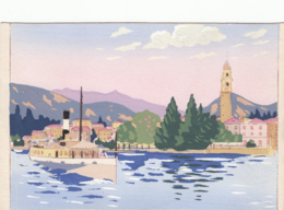 1950 Ca.-Pallanza Verbania, Panorama Dipinto A Mano, Nuova - Verbania