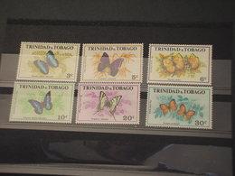 TRINIDAD E TOBAGO - 1972 FARFALLE 6 VALORI  - NUOVI(++) - Trindad & Tobago (1962-...)
