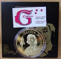 Médaille Marilyn Monroe Avec Coffret Musée Grevin - Professionnels / De Société