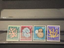TOKELAU - 1973 CORALLI 4 VALORI  - NUOVI(++) - Tokelau