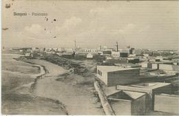 """BENGASI (LIBIA),PANORAMA, B/N-ANIMATA-TIMBRO """"16° REGGIMENTO FANTERIA-2° BATTAGLIONE"""" 1914-PER NAPOLI - Guerra 1914-18"""