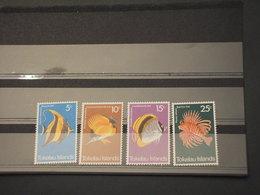 TOKELAU - 1975 PESCI 4 VALORI  - NUOVI(++) - Tokelau