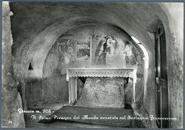 °°° Cartolina N. 8 Greccio Il Primo Presepiodel Mondo Venerato Nel Santuario Francescano Viaggiata °°° - Rieti