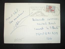 CP TP COQ DE DECARIS 0,25 OBL.MEC. HEXAGONALE 26-2 1965 LES DEUX ALPES ISERE (38)SKI - 1962-65 Cock Of Decaris