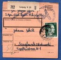 Colis Postal / De Leipzig  / Pour Seingbouse ( Sengbusch ) - Alsace-Lorraine