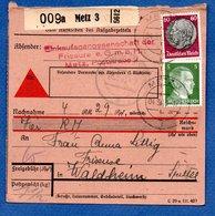 Colis Postal / De Metz 3  / Pour Waldheim - Spittel - Elzas-Lotharingen